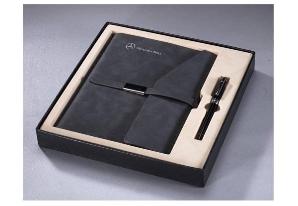 汽车电信礼品定制-奔驰汽车定制笔记本+签字笔两件套