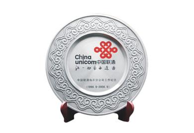 锡盘摆件-中国联通