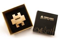 房地产礼品-中南房地产30周年礼品-鲁班锁礼品定制案例
