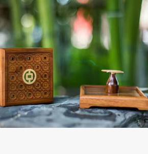 房地产开盘礼品-工商银行礼品定制-红木盘香盒+盘香