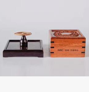 房地产开盘礼品-绿城房地产礼品定制-红木盘香盒+盘香