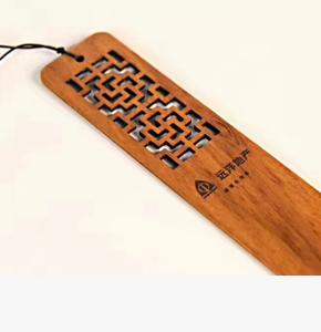 房地产开盘礼品-红木书签-远洋房地产定制礼品