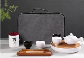 商务礼品 · 茶具套装白瓷玉兰壶