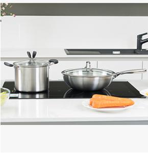 房地产认筹礼品-艾铂赫厨房不锈钢两件套-炒锅+汤锅
