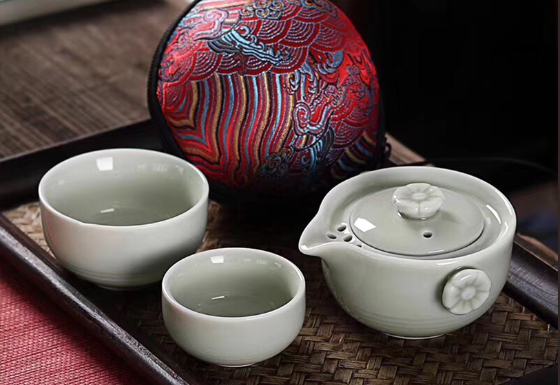 定制礼品,茶具礼品:祥云快客杯2杯+1壶+精美礼盒