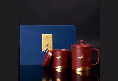商务礼品定制礼品:祥和紫砂杯套装