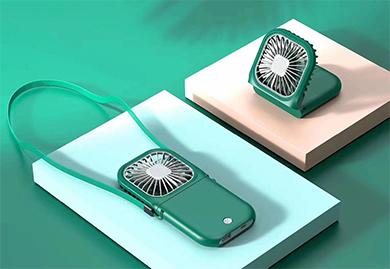 商务伴手礼-折叠风扇+充电宝二合一