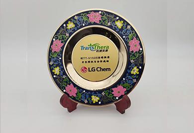 庆典礼品,纪念礼品定制-铜盘,LG定制