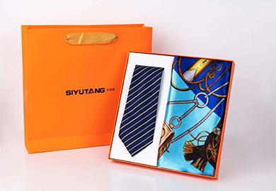 商务礼品,年会礼品,福利礼品-丝巾+保温杯礼品套装,丝巾+领带礼品套装
