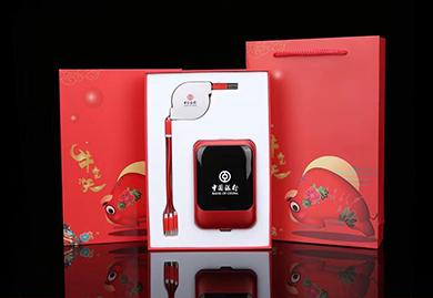 春节礼品,商务礼品,伴手礼,中国银行定制,充电宝+数据线套装